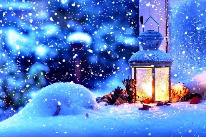 Снежный вечер. Картины и Стихи. 5 января