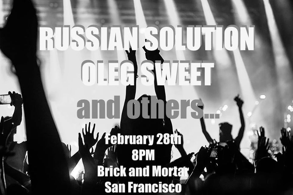 Russian Rock Night with Russian Solution and Oleg Sweet Band. 28 февраля